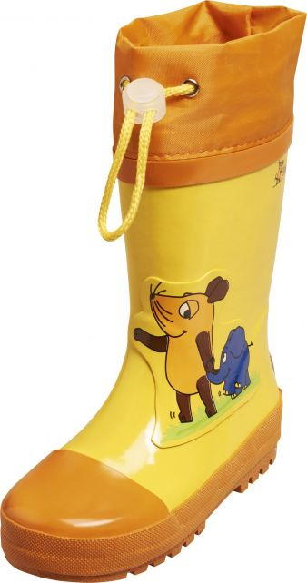Playshoes---Rubber-Boots-Mouse-&-Elephant---Yellow
