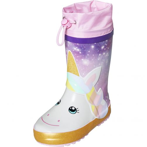 Playshoes---Rainboots-with-drawstring-for-kids---Unicorn---Multi