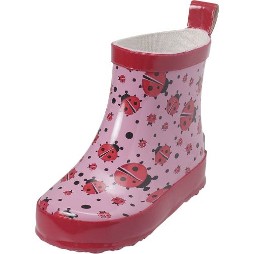 Playshoes---Rubber-boots-with-half-shaft-for-girls---Ladybird---Pink