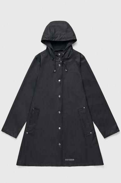 Stutterheim---Lightweight-raincoat-for-women---Mosebacke-LW---Black