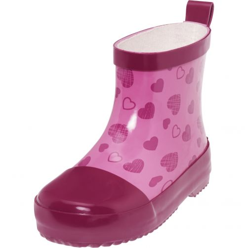Playshoes---Rubber-boots-with-half-shaft-for-girls---Hearts---Pink