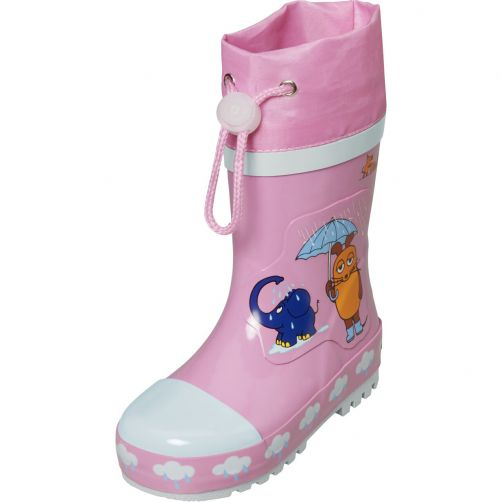 Playshoes---Rubber-boots-for-kids---Mouse-&-elephant---Pink
