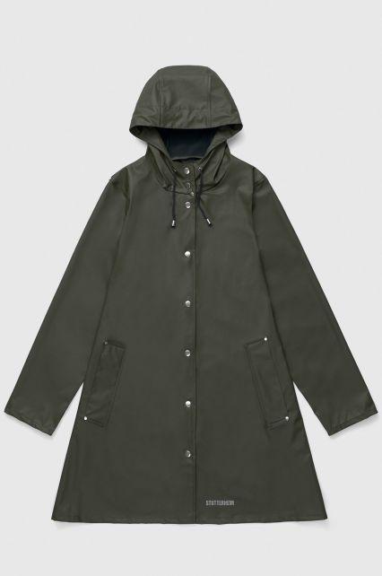 Stutterheim---Lightweight-raincoat-for-women---Mosebacke-LW---Green