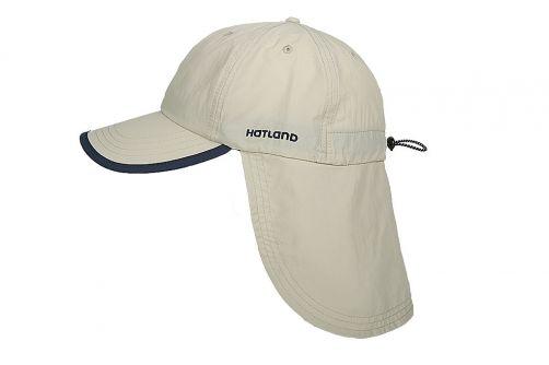 Hatland---UV-sun-cap-with-neck-flap-for-men---Stone-Anti-Mosquito---Beige