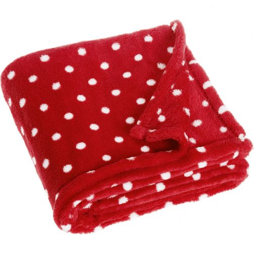 Playshoes---Fleece-blanket-for-kids-75x100cm---Dots---Red