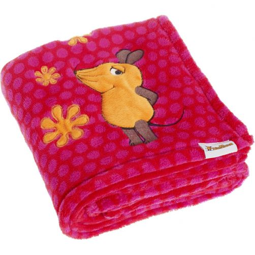 Playshoes---Fleece-blanket-for-kids-75x100cm---Mouse---Pink