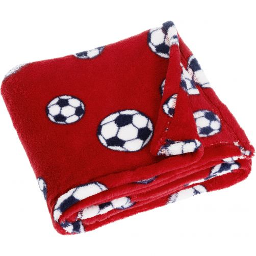 Playshoes---Fleece-blanket-for-kids-75x100cm---Football---Red