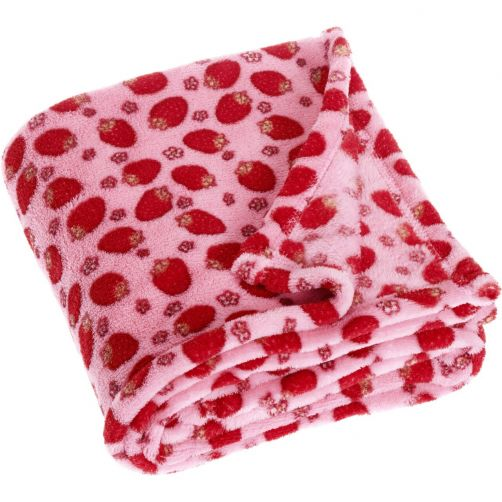 Playshoes---Fleece-blanket-for-kids-75x100cm---Strawberry---Pink