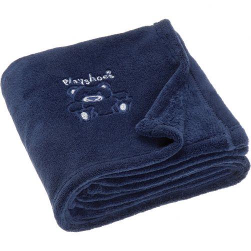 Playshoes---Fleece-blanket-for-kids-75x100cm---Bear---Navy