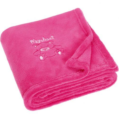 Playshoes---Fleece-blanket-for-kids-75x100cm---Bear---Pink