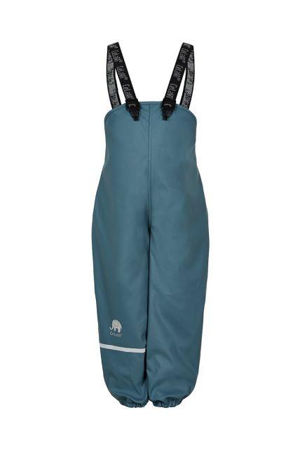 CeLaVi---Rain-pants-with-fleece-for-kids---Bib-or-elastic-waist---Ice-blue