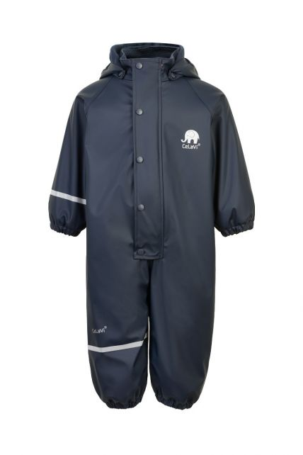 CeLaVi---Rainsuit-with-fleece-for-kids---Solid---Dark-blue