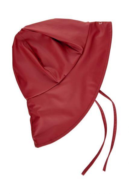 CeLaVi---Rain-cap-with-fleece-for-kids---Solid---Dark-red