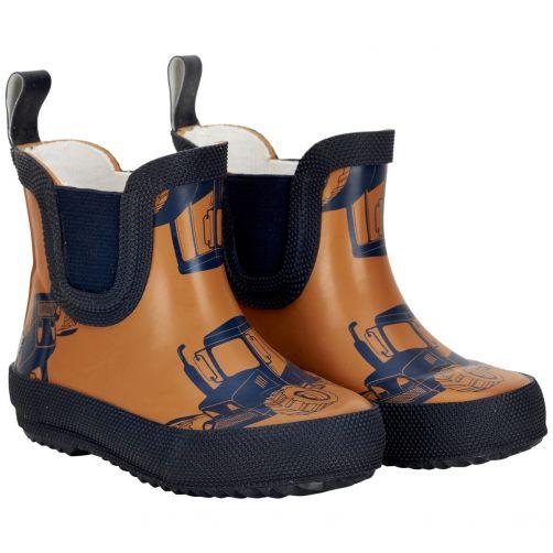 CeLaVi---Short-rainboots-for-kids---Tractors---Pumpkin
