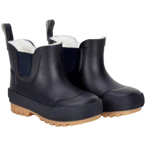 CeLaVi---Short-snowboots-with-fleece-for-kids---Thermal---Dark-blue