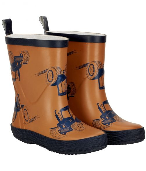 CeLaVi---Rainboots-for-kids---Tractors---Pumpkin