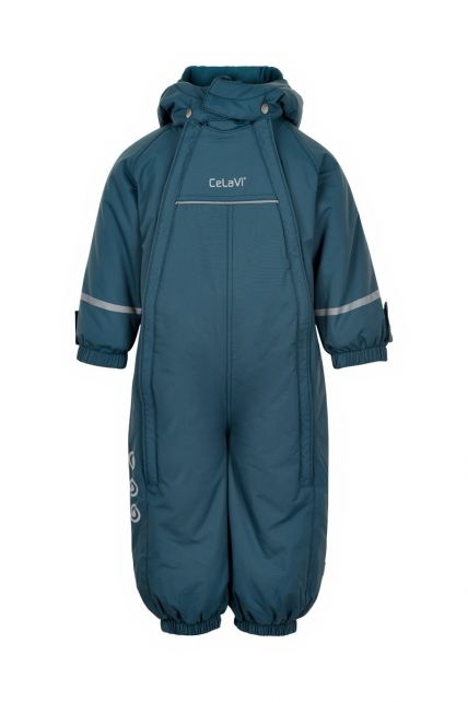 CeLaVi---Snowsuit-with-double-zipper-for-babies---Solid---Ice-blue