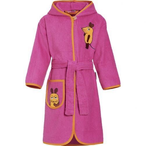 Playshoes---Bathrobe-for-kids---Mouse---Pink