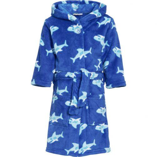 Playshoes---Fleece-bathrobe-for-kids---Shark---Blue