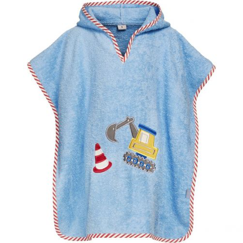 Playshoes---Hooded-poncho-for-kids---Construction-site---Blue