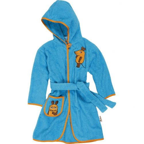 Playshoes---Bathrobe-for-kids---Mouse---Aqua-blue