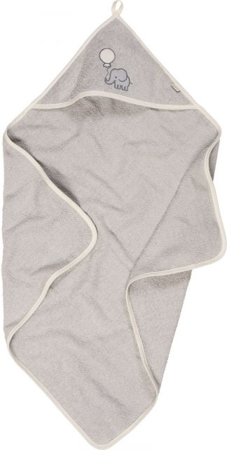 Playshoes---Hooded-towel-for-kids-75x75cm---Elephant---Grey