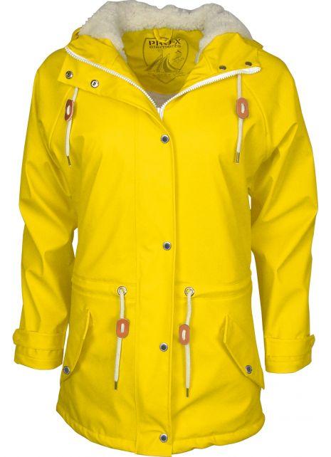 Pro-X-Elements---XPlus-stretch-rain-jacket-for-woman---Kira---Yellow