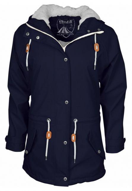 Pro-X-Elements---XPlus-stretch-rain-jacket-for-woman---Kira---Marine
