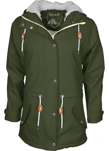 Pro-X-Elements---XPlus-stretch-rain-jacket-for-woman---Kira---Dark-green
