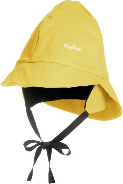 Playshoes---Rain-cap-with-fleece---Yellow