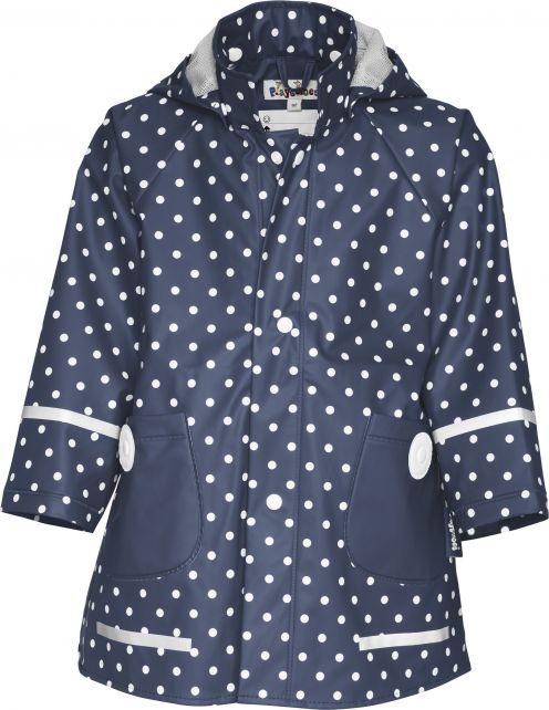 Playshoes---Rain-Coat-Dots---Navy