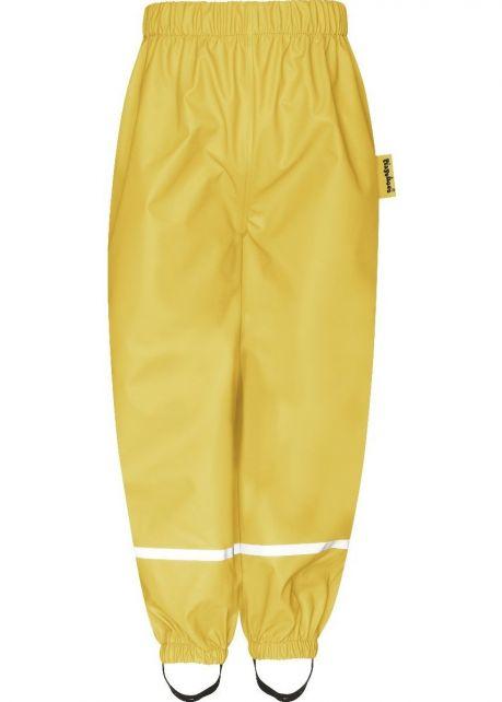 Playshoes---Rain-Pants-with-Fleece-lining-for-kids---Yellow