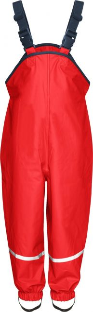 Playshoes---Rain-pants-with-suspenders---Red
