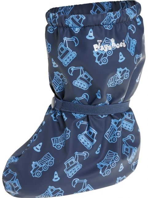 Playshoes---Waterproof-overshoes-with-fleece-lining---Construction---Navy