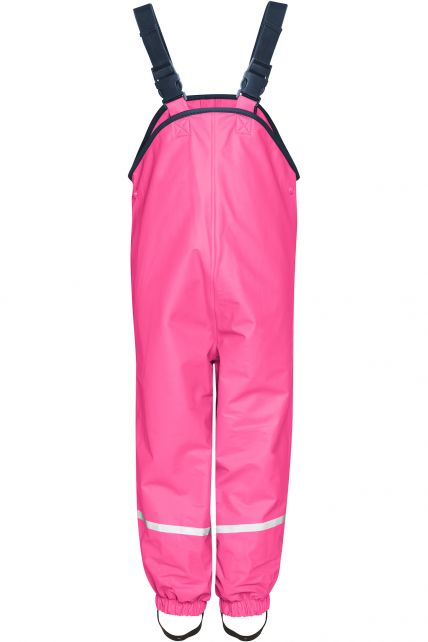 Playshoes---Rain-Bib-Trousers-with-Fleece-lining---Pink