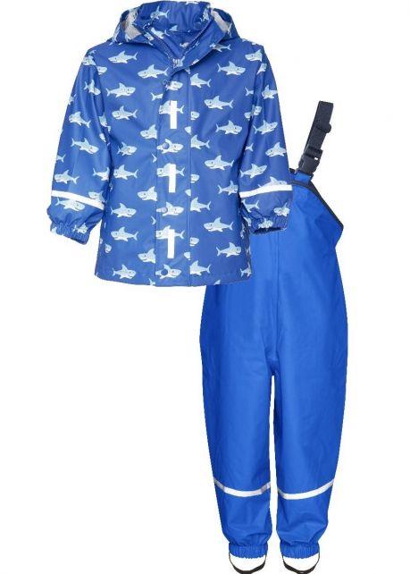 Playshoes---Rain-Suit-Sharks-Allover---Blue
