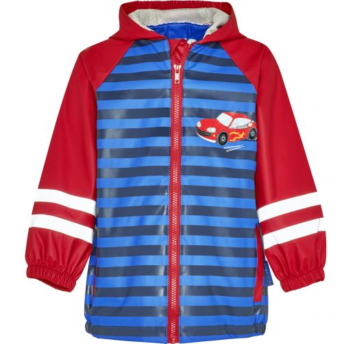 Playshoes---Raincoat-for-kids---Racecar---Red-and-blue