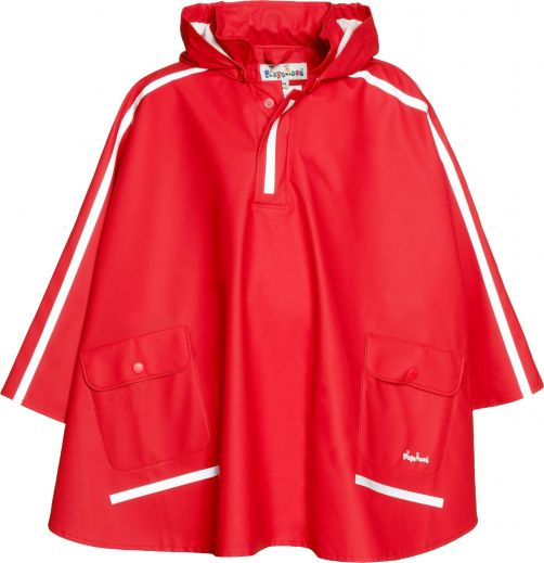 Playshoes---Rain-cape-with-pockets---Red