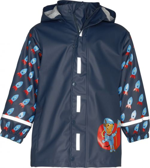 Playshoes---Rainjacket-for-kids---Mouse-in-Outer-Space---Navy
