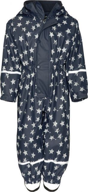 Playshoes---Rainwear-suit-with-Fleece-lining-for-kids---Stars---Navy
