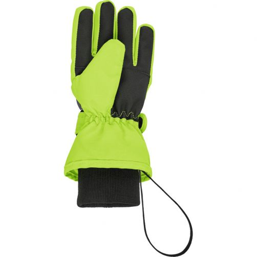 Playshoes---Winter-gloves-for-kids---Snowflakes---Green