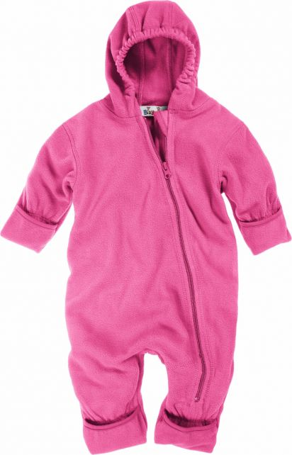Playshoes---Fleece-overall-with-hoodie---Pink