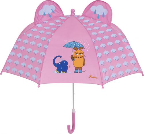 Playshoes---Umbrella-3D-for-kids---Mouse-&-Elephant---Light-pink