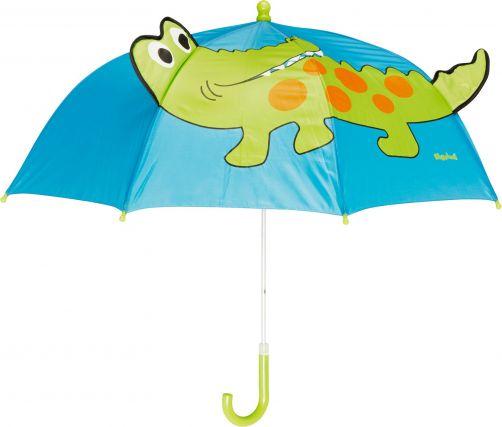 Playshoes---Children's-umbrella-with-Crocodile---Blue
