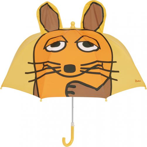 Playshoes---Umbrella-for-kids---Mouse-with-3D-ears---Yellow