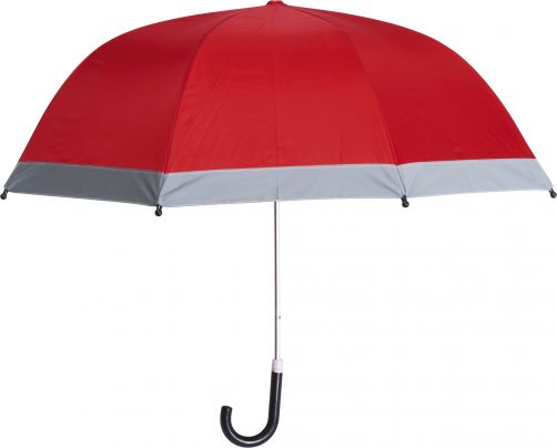 Playshoes---Children's-umbrella-with-Reflectors---Red