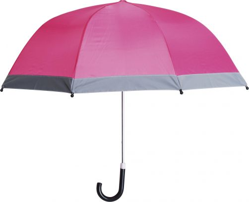 Playshoes---Children's-umbrella-with-Reflectors---Pink