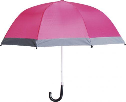 Playshoes---Children's-umbrella-with-Reflectors---Pink