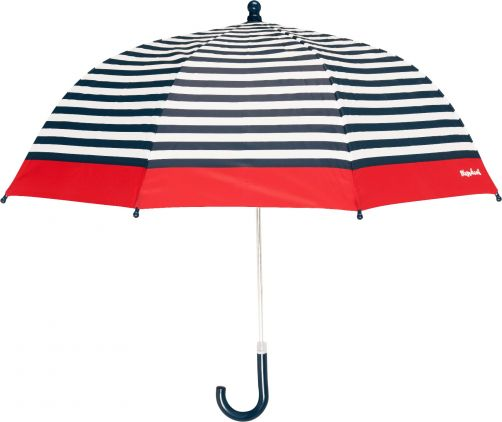 Playshoes---Children's-umbrella-with-Stripes---Navy/Wit