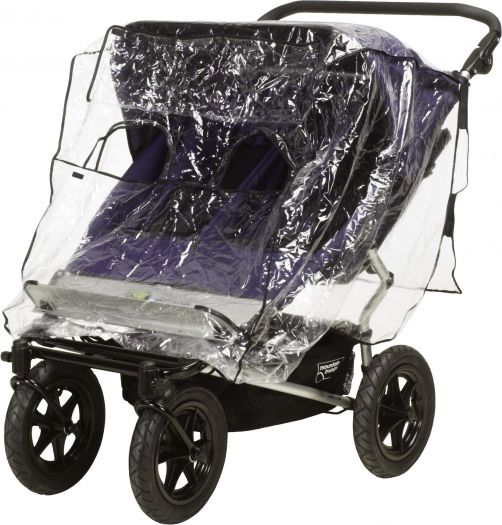 Playshoes---Rain-cover-for-duo-buggy---Transparant